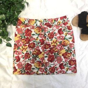 Loft floral vintage inspired skirt / miniskirt